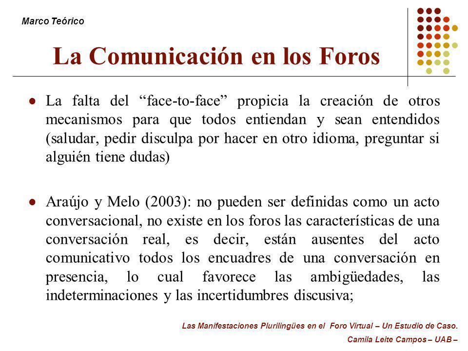 La Comunicación en los Foros