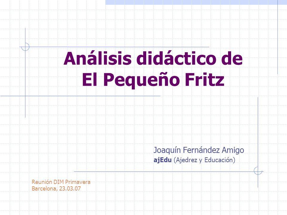 Análisis didáctico de El Pequeño Fritz