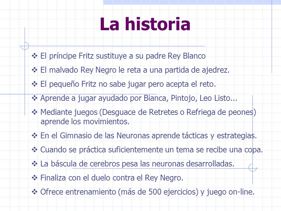 La historia El príncipe Fritz sustituye a su padre Rey Blanco