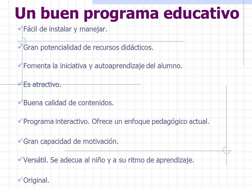 Un buen programa educativo