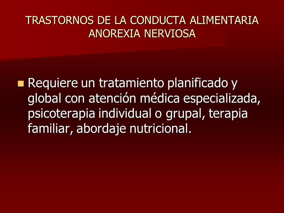 TRASTORNOS DE LA CONDUCTA ALIMENTARIA ANOREXIA NERVIOSA