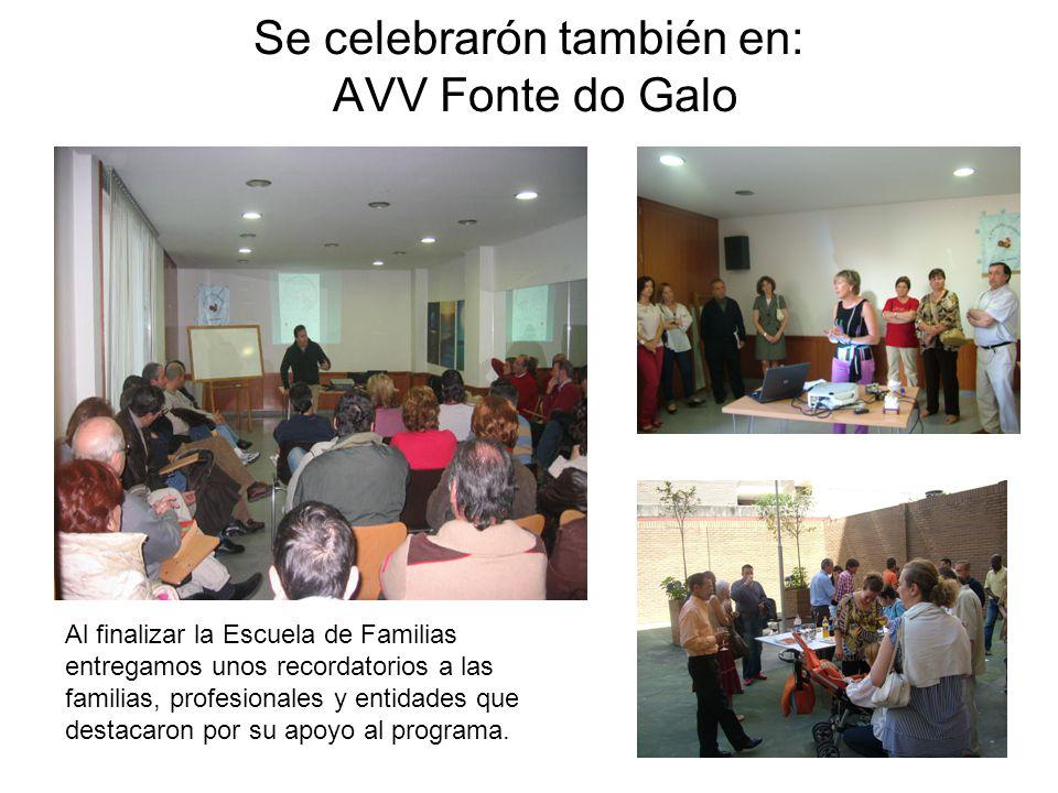Se celebrarón también en: AVV Fonte do Galo