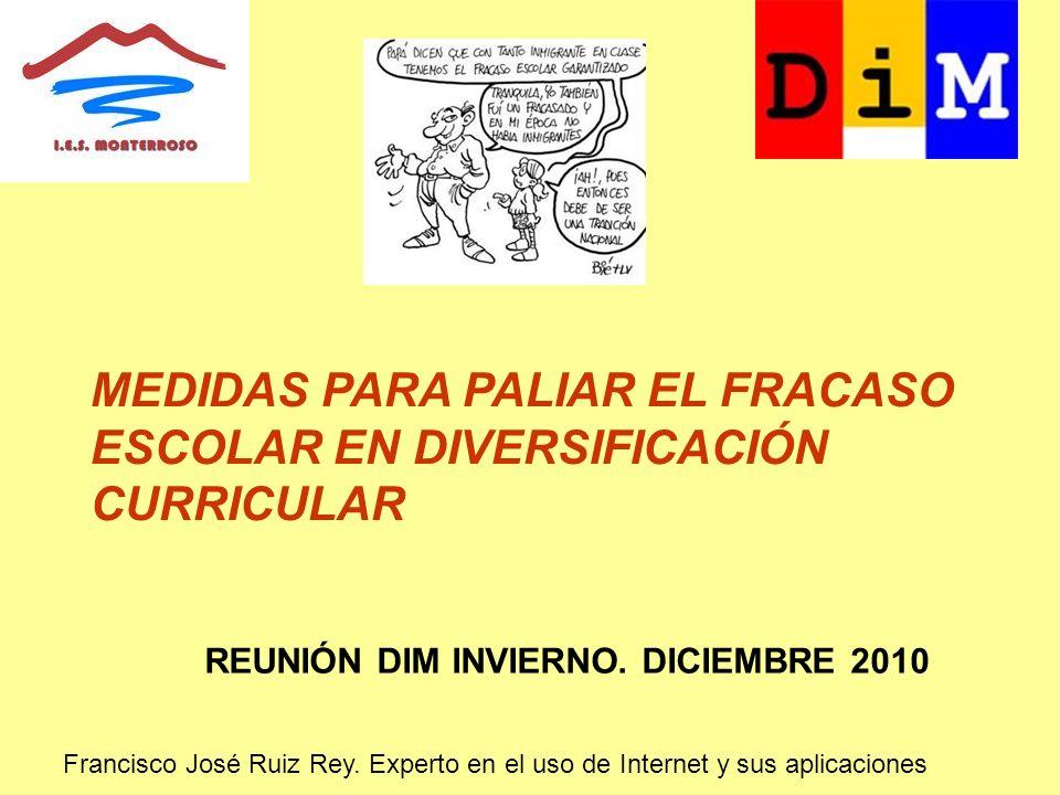 MEDIDAS PARA PALIAR EL FRACASO ESCOLAR EN DIVERSIFICACIÓN CURRICULAR