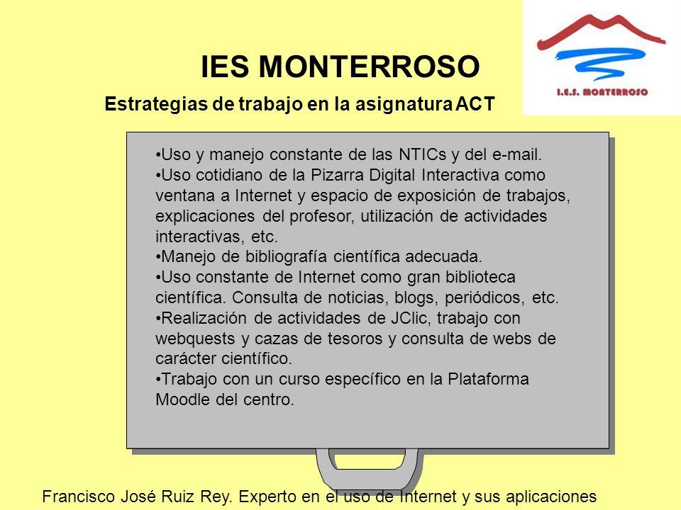 IES MONTERROSO Estrategias de trabajo en la asignatura ACT