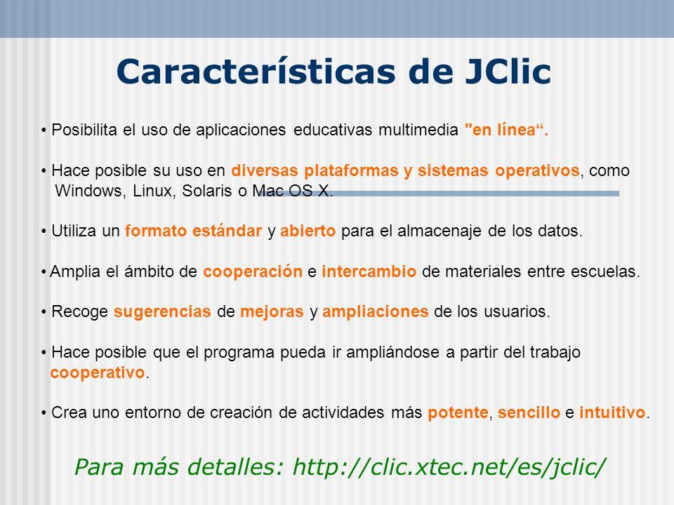 Características de JClic
