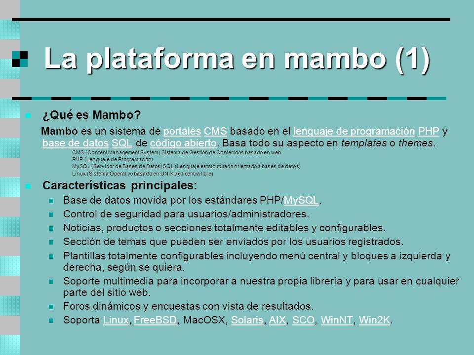 La plataforma en mambo (1)