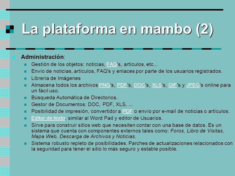 La plataforma en mambo (2)