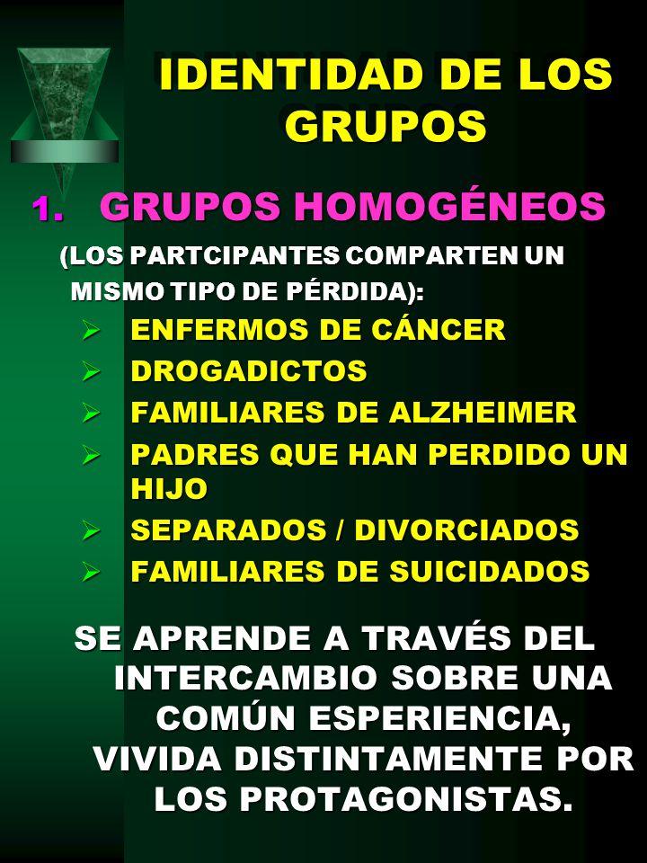 IDENTIDAD DE LOS GRUPOS