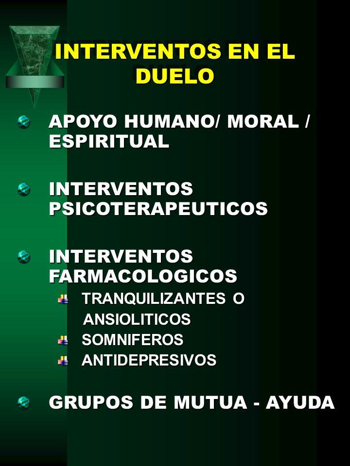 INTERVENTOS EN EL DUELO