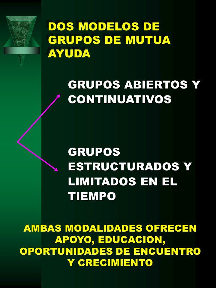 DOS MODELOS DE GRUPOS DE MUTUA AYUDA