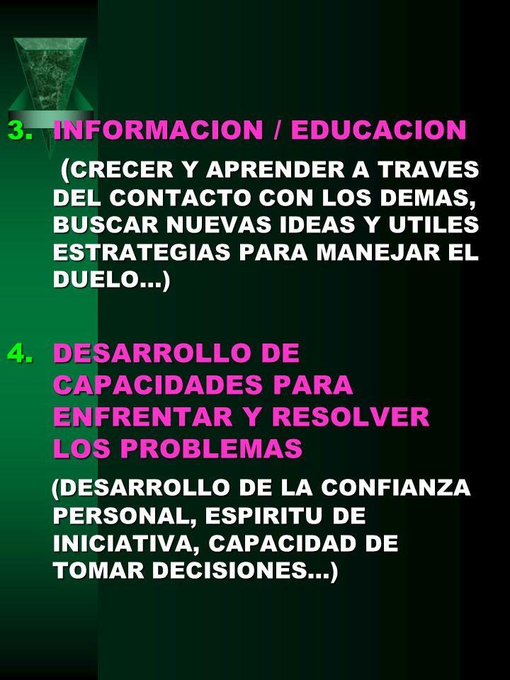 INFORMACION / EDUCACION