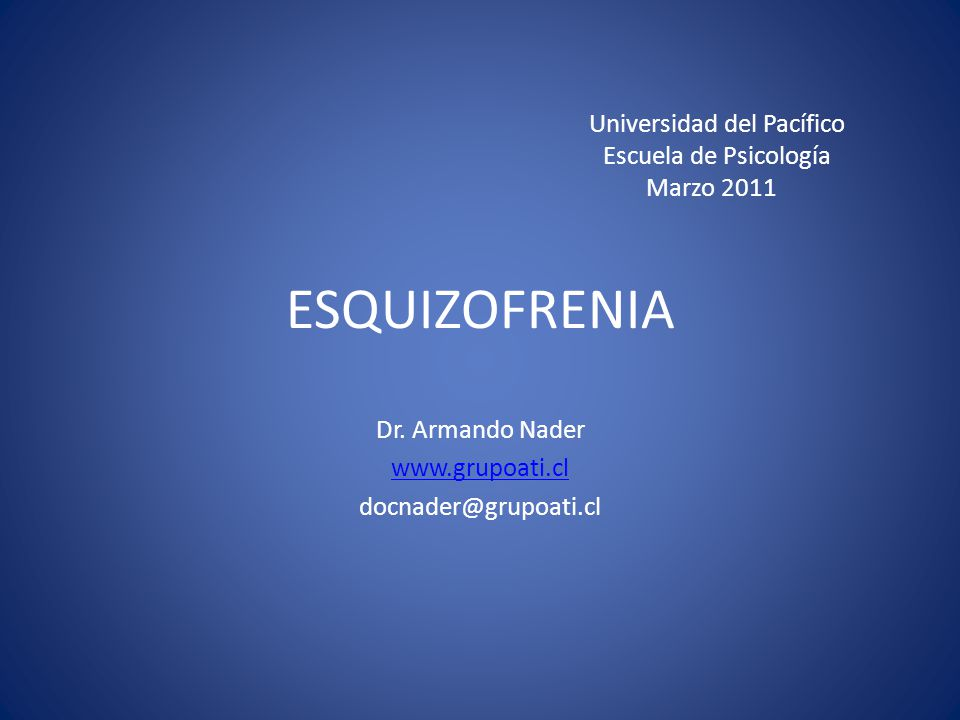 Dr. Armando Nader www.grupoati.cl docnader@grupoati.cl
