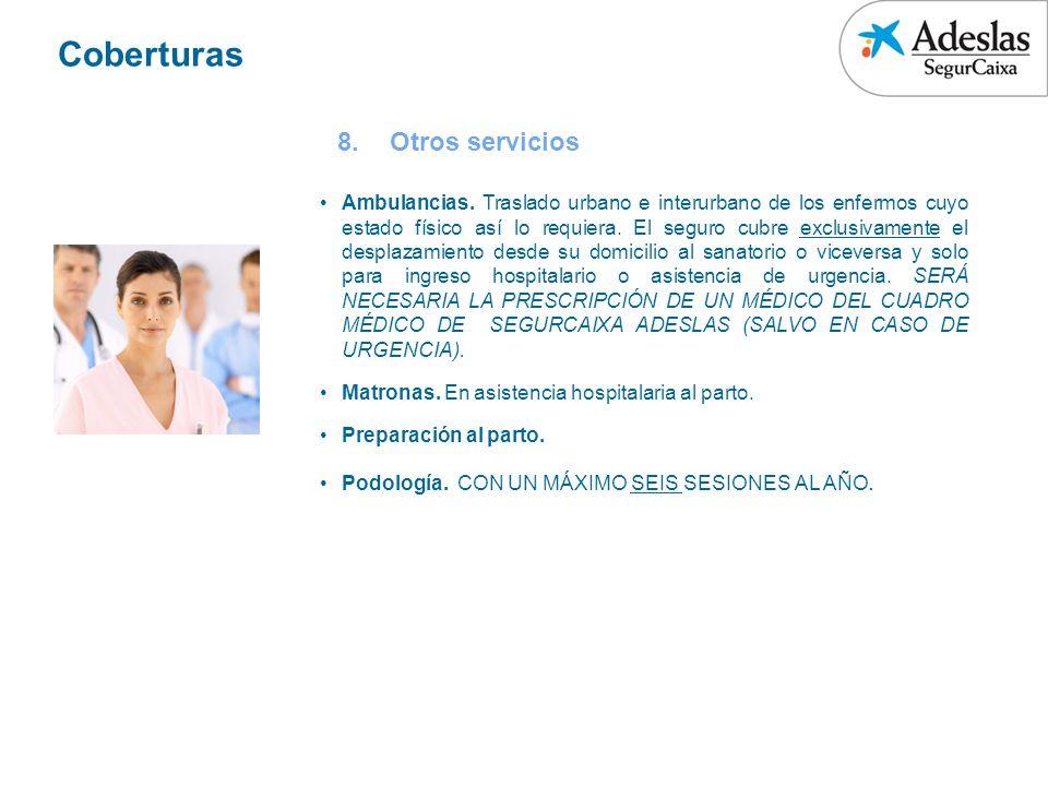 Coberturas Otros servicios