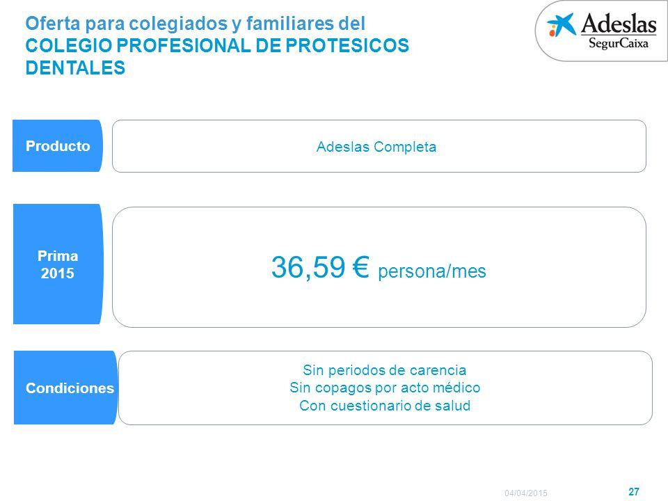 Oferta para Familiares (Cónyuge e Hijos) S.A.