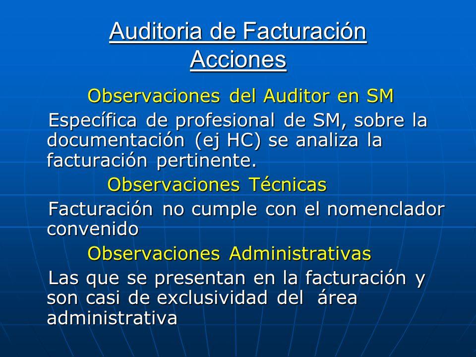 Auditoria de Facturación Acciones