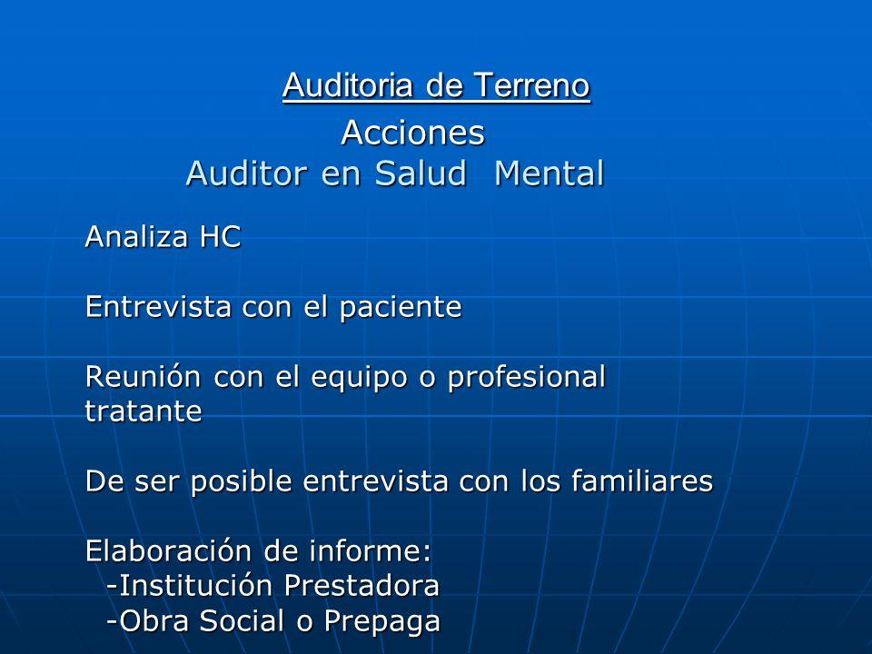 Auditor en Salud Mental