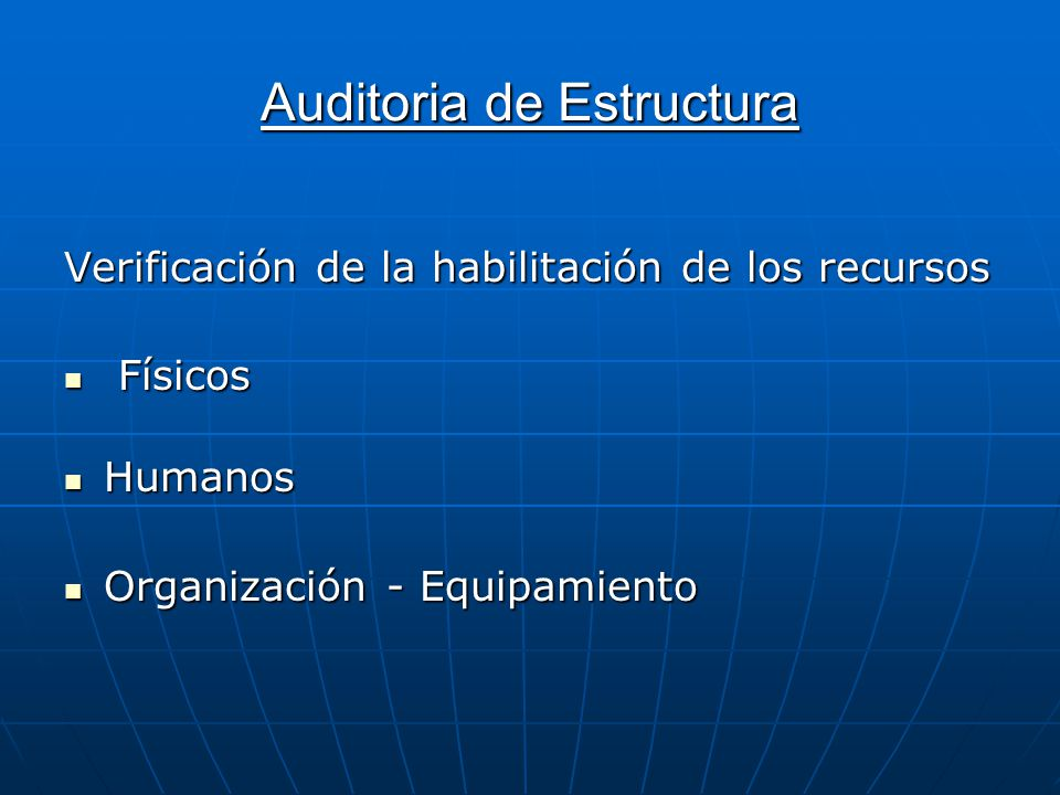 Auditoria de Estructura