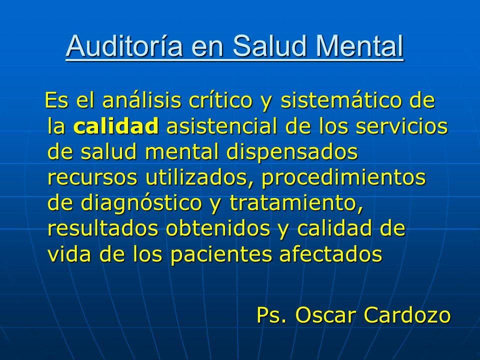 Auditoría en Salud Mental