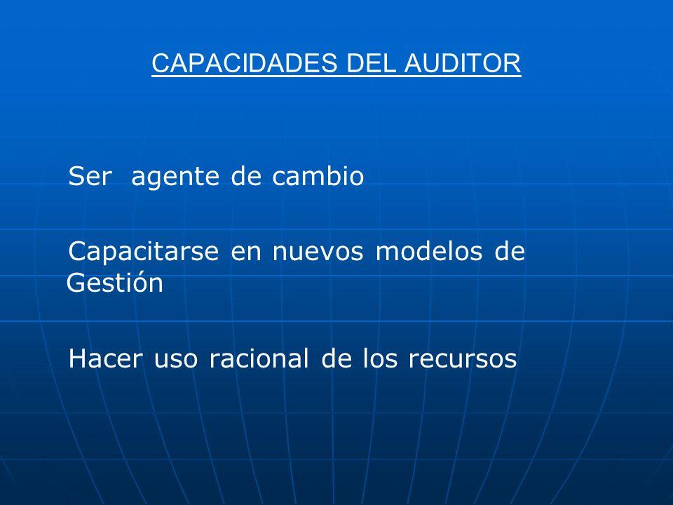 CAPACIDADES DEL AUDITOR