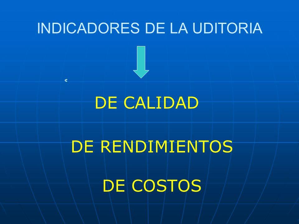 INDICADORES DE LA UDITORIA
