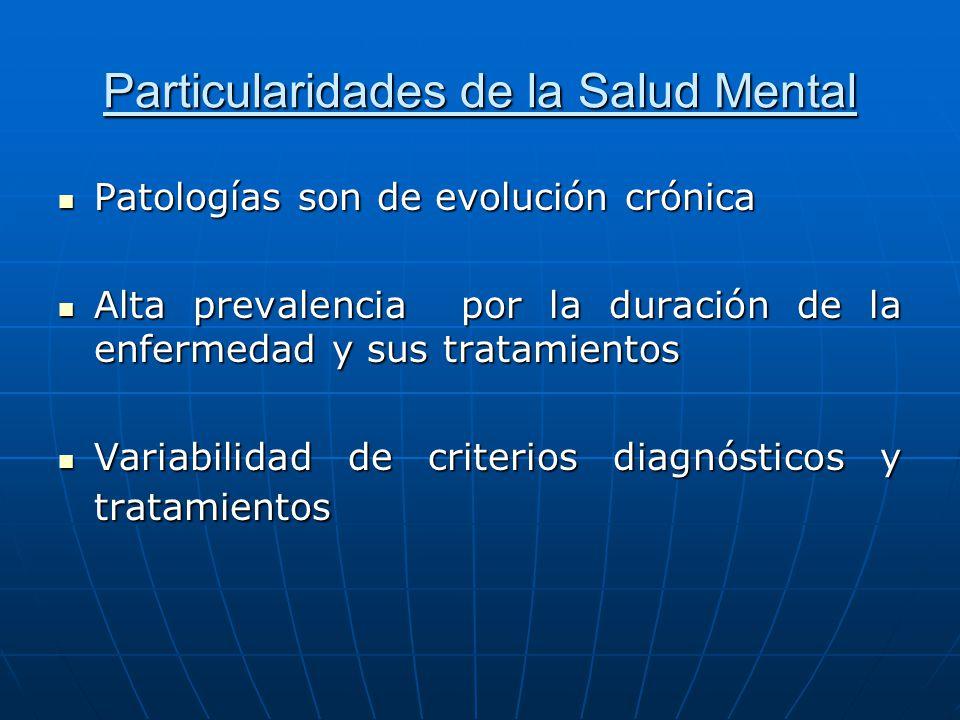 Particularidades de la Salud Mental