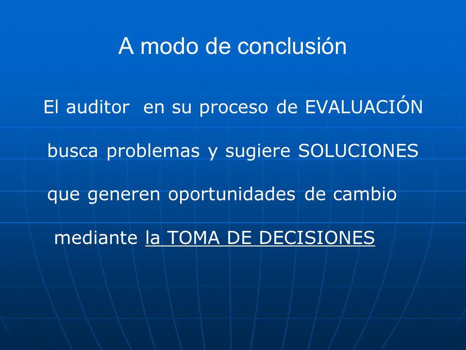 A modo de conclusión busca problemas y sugiere SOLUCIONES