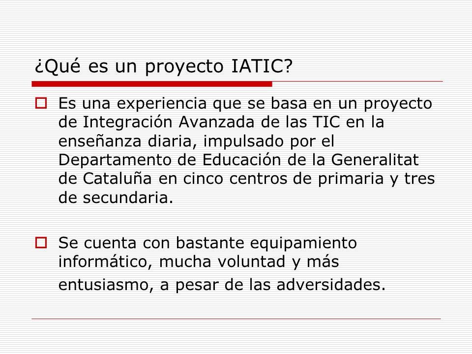 ¿Qué es un proyecto IATIC
