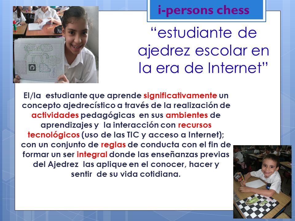 estudiante de ajedrez escolar en la era de Internet