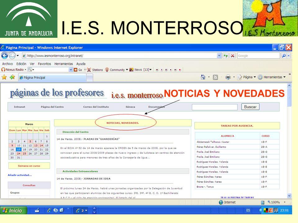 I.E.S. MONTERROSO NOTICIAS Y NOVEDADES
