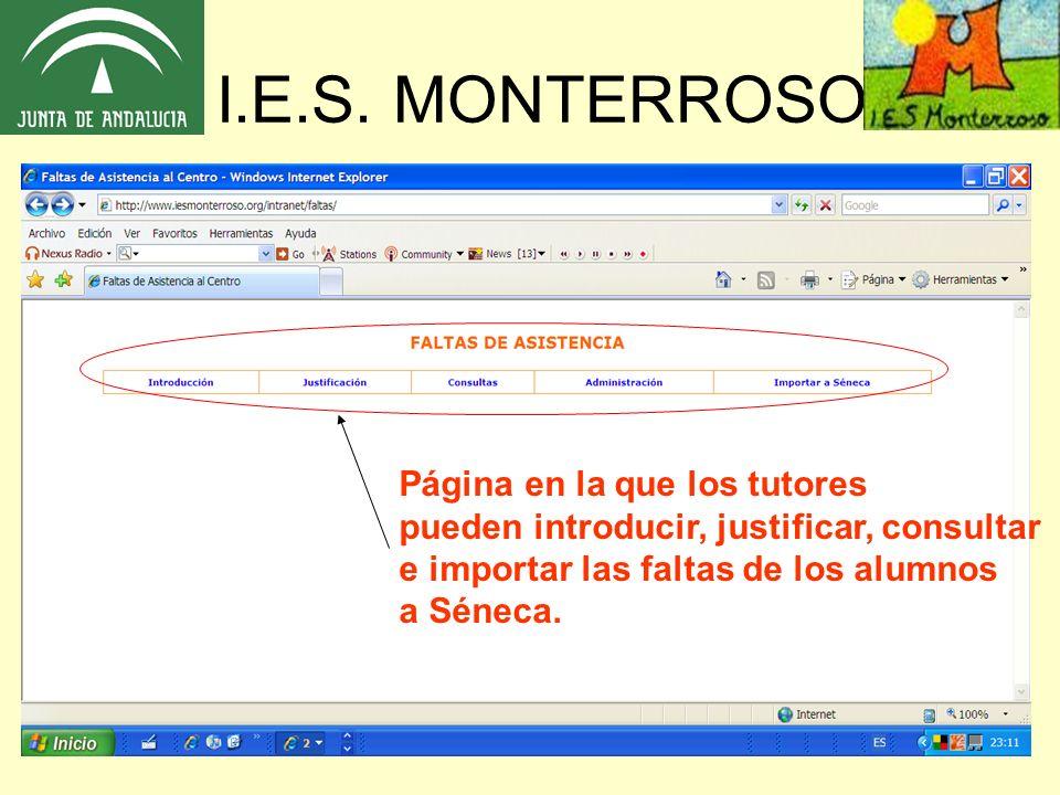 I.E.S. MONTERROSO Página en la que los tutores