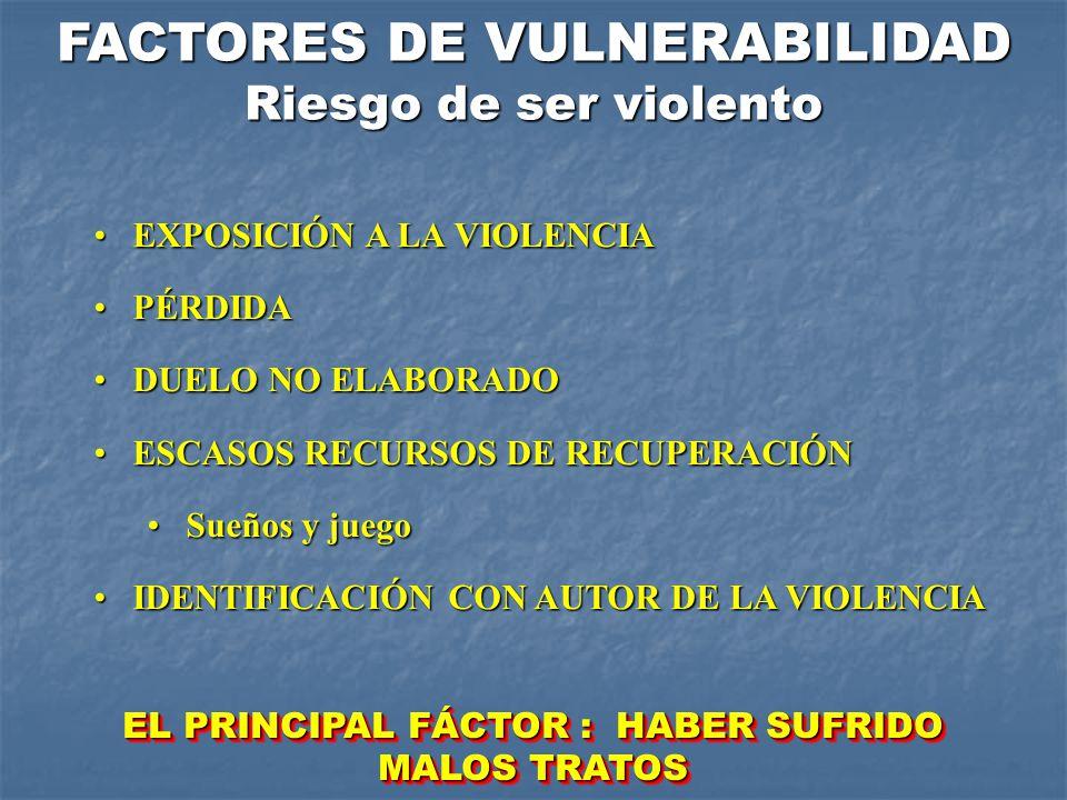 FACTORES DE VULNERABILIDAD