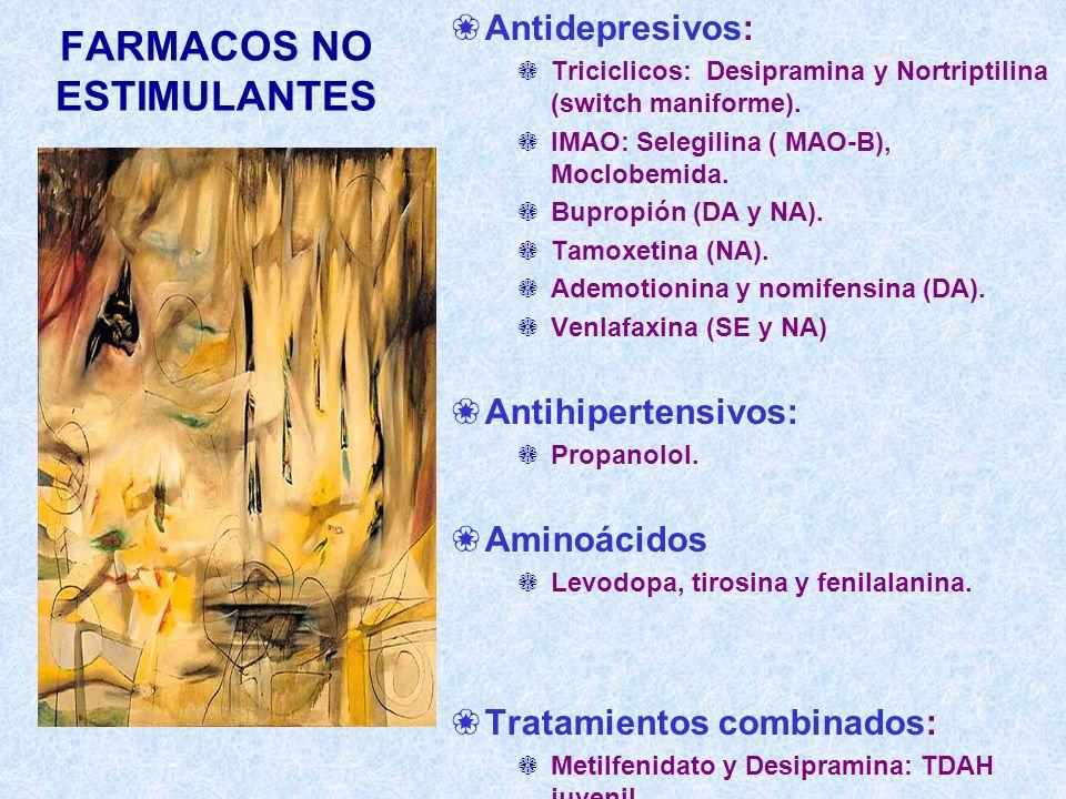 FARMACOS NO ESTIMULANTES