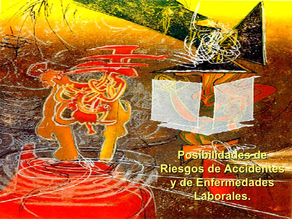 Posibilidades de Riesgos de Accidentes y de Enfermedades Laborales.
