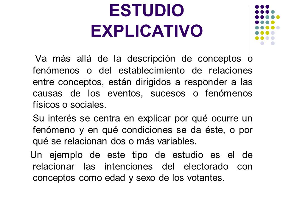 ESTUDIO EXPLICATIVO