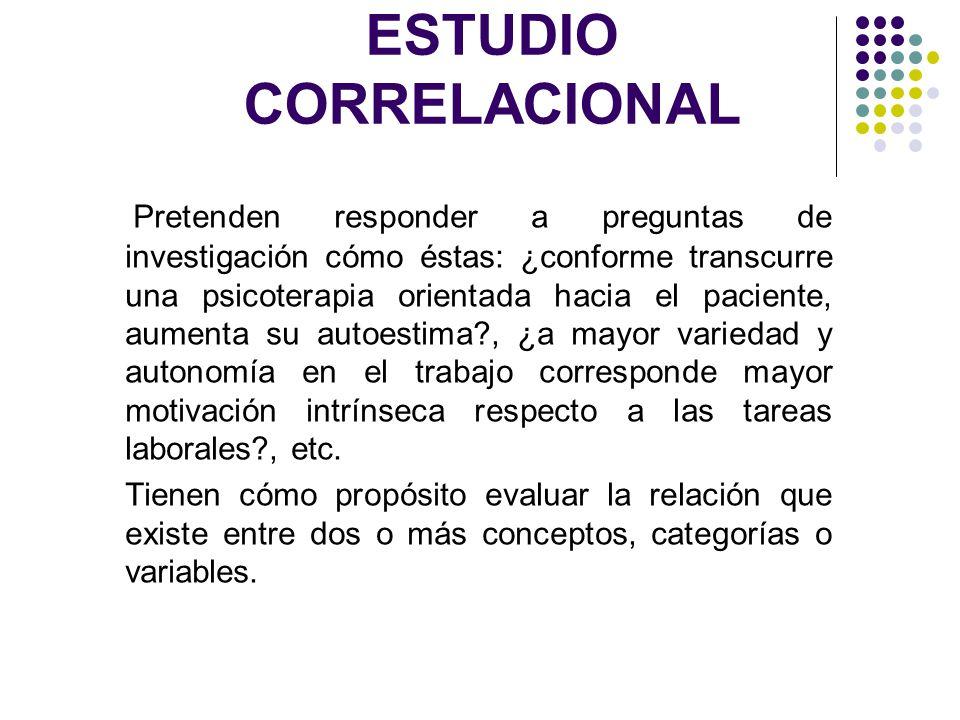 ESTUDIO CORRELACIONAL