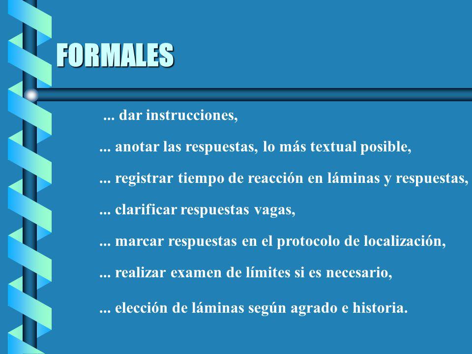 FORMALES ... dar instrucciones,