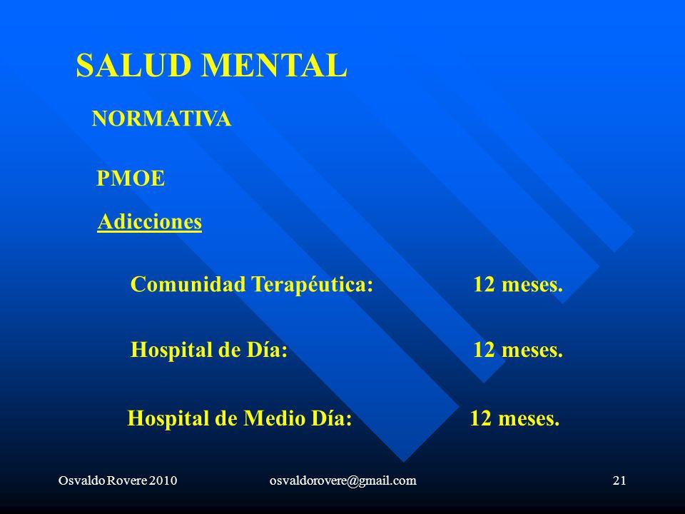 SALUD MENTAL NORMATIVA PMOE Adicciones