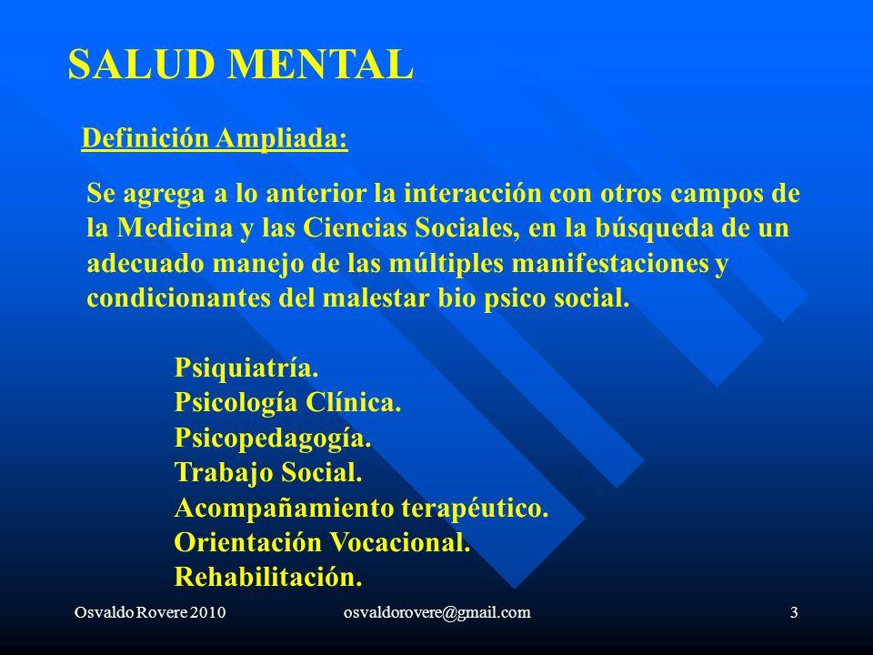 SALUD MENTAL Definición Ampliada: