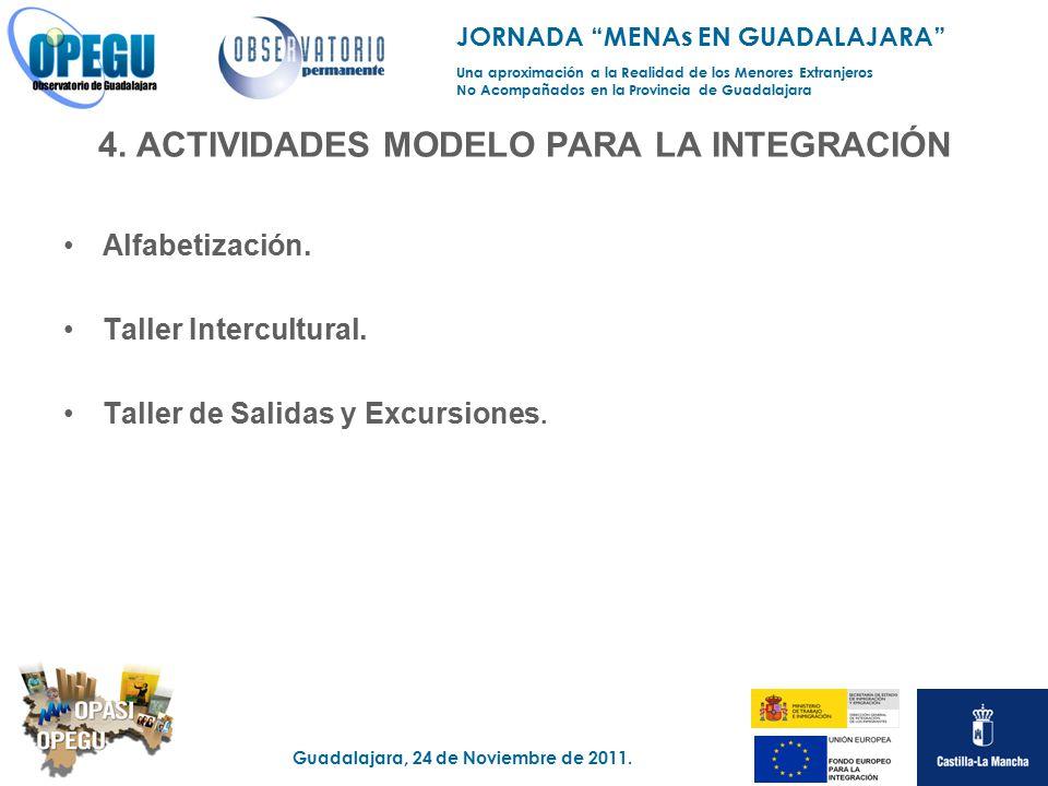 4. ACTIVIDADES MODELO PARA LA INTEGRACIÓN