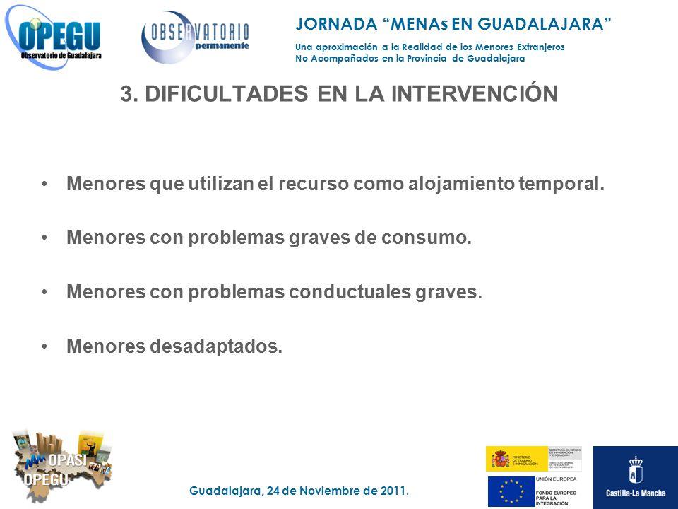 3. DIFICULTADES EN LA INTERVENCIÓN