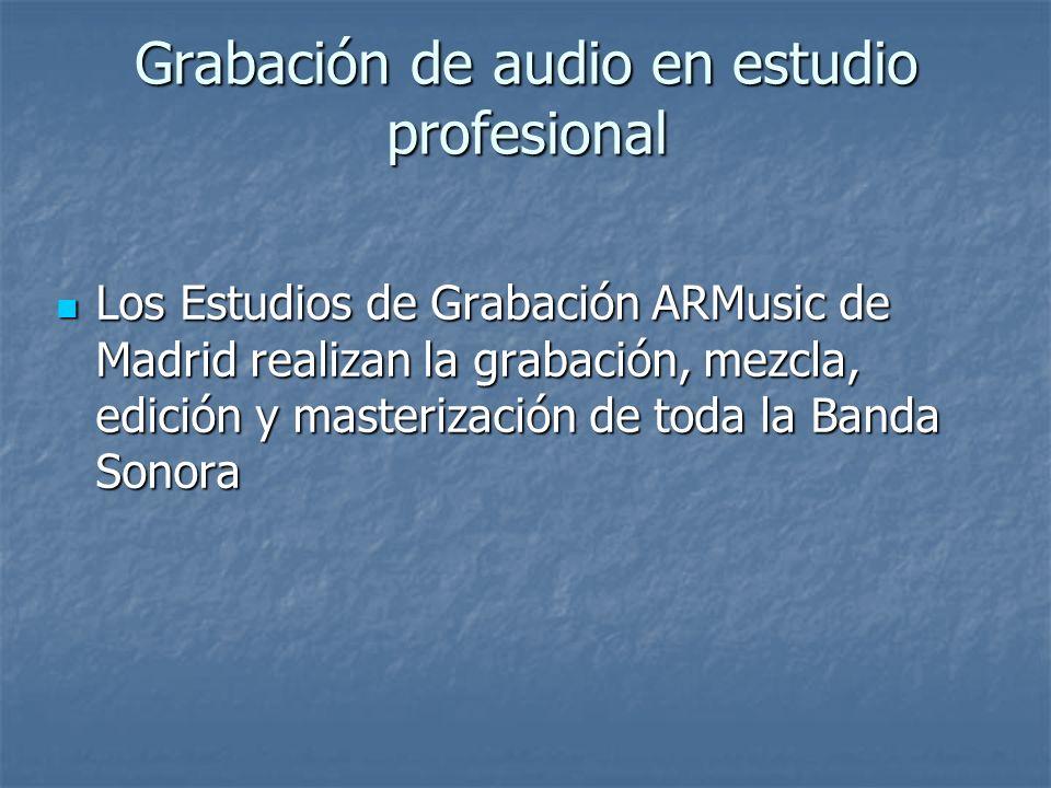 Grabación de audio en estudio profesional