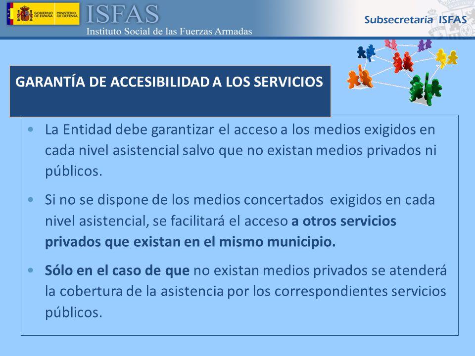 GARANTÍA DE ACCESIBILIDAD A LOS SERVICIOS