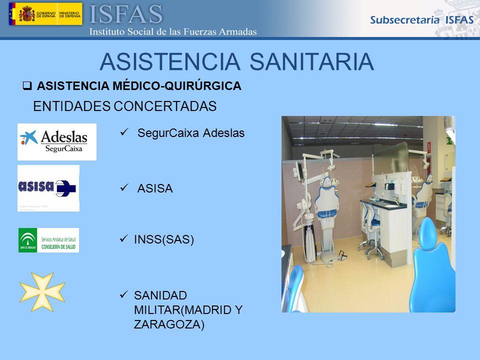 ASISTENCIA SANITARIA ENTIDADES CONCERTADAS