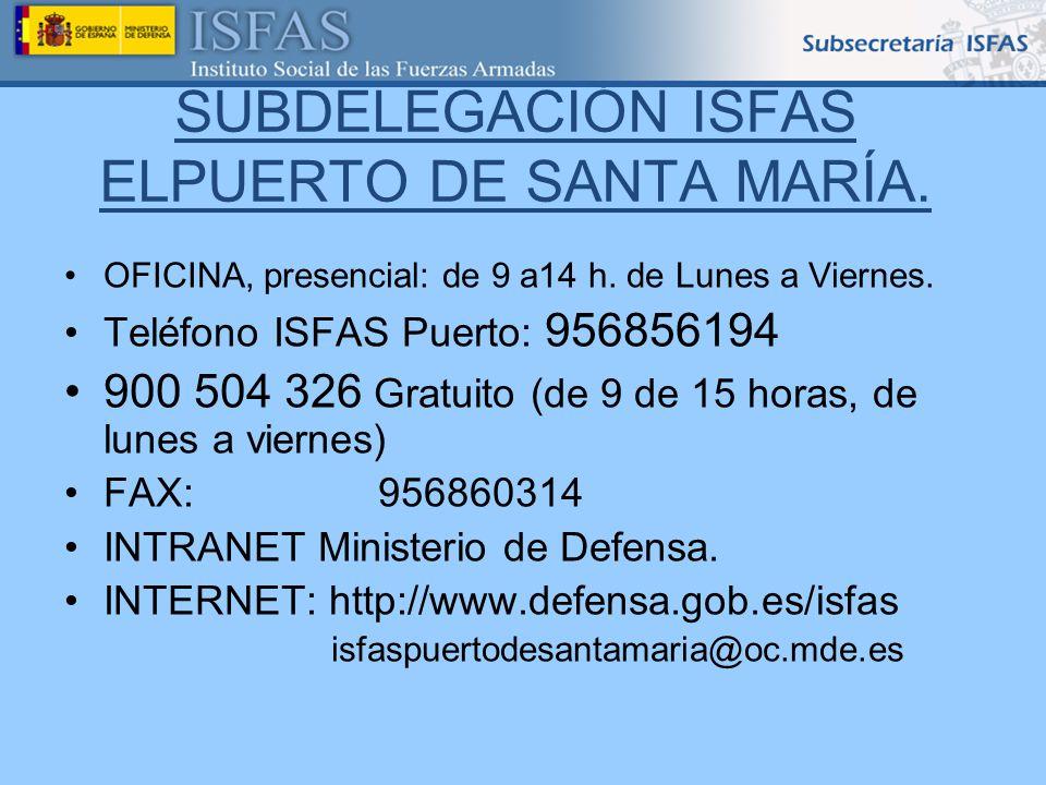 SUBDELEGACIÓN ISFAS ELPUERTO DE SANTA MARÍA.