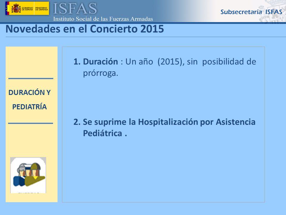1 Novedades en el Concierto 2015