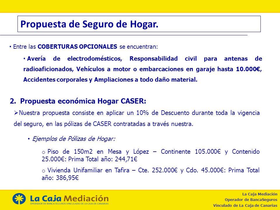 Propuesta de Seguro de Hogar.