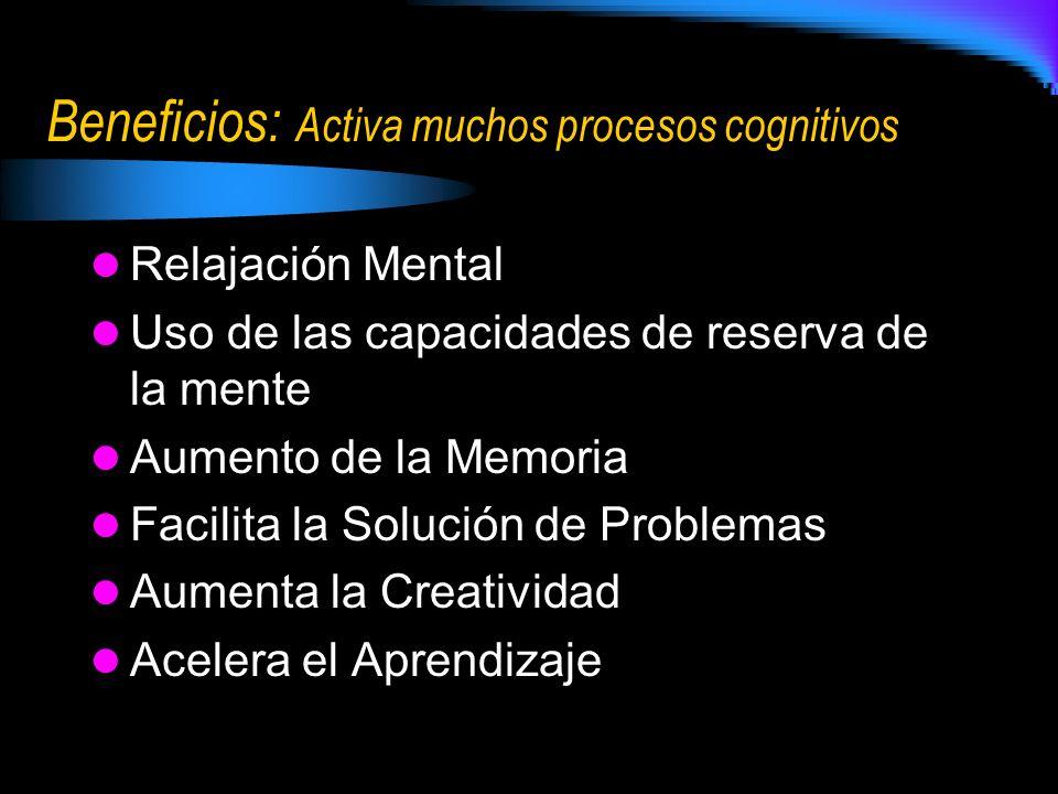 Beneficios: Activa muchos procesos cognitivos