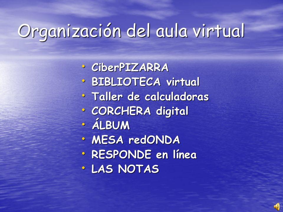 Organización del aula virtual