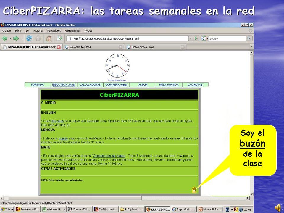 CiberPIZARRA: las tareas semanales en la red