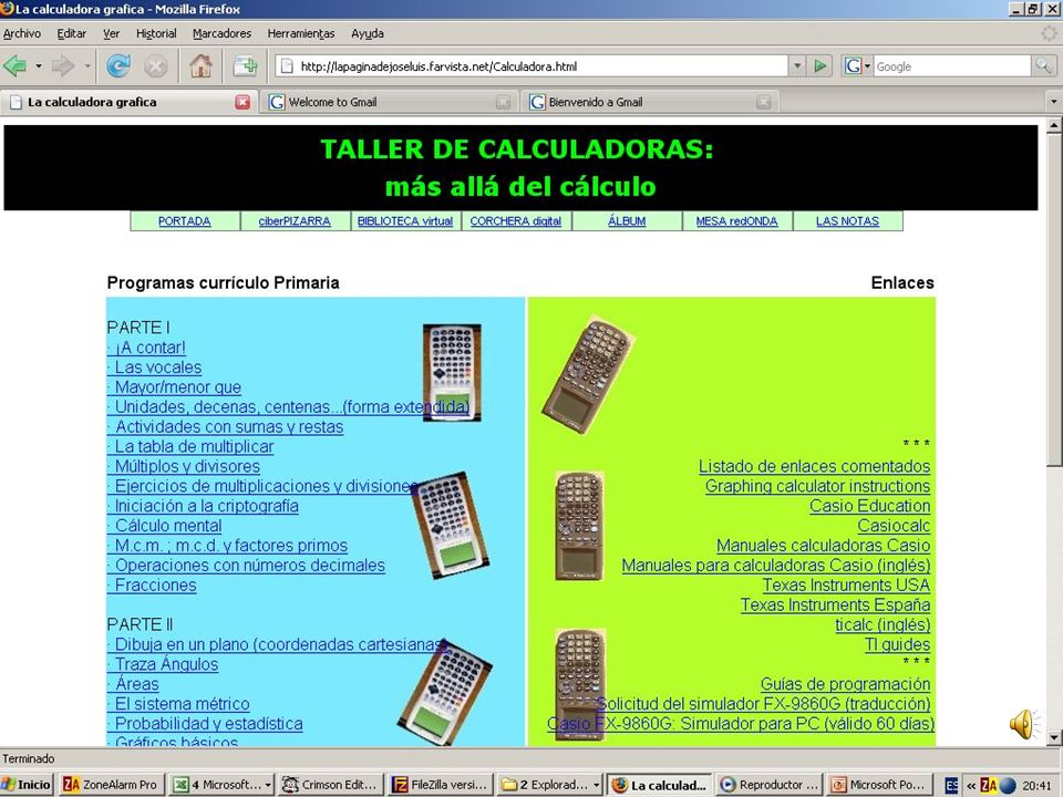 Taller de calculadoras: más allá del cálculo